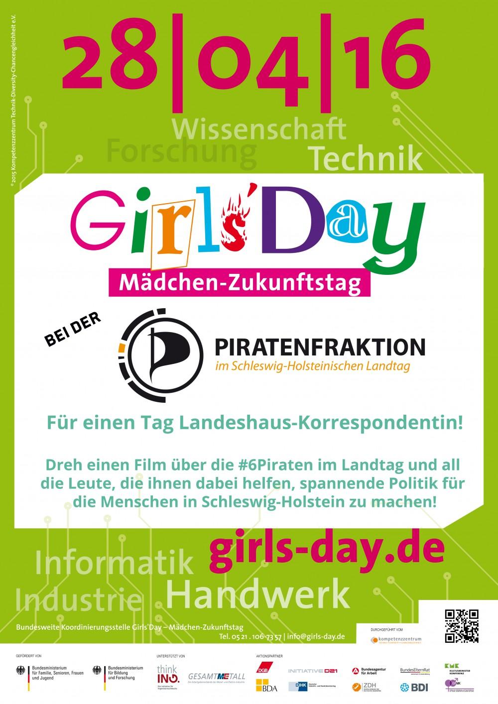 Plakat Girls'Day Ð MŠdchen-Zukunftstag 28|04|16